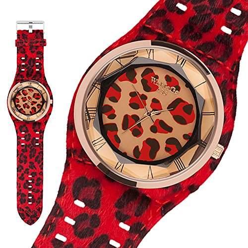 Taffstyle® Modern Damen Armbanduhr mit Leoparden Style - Braun