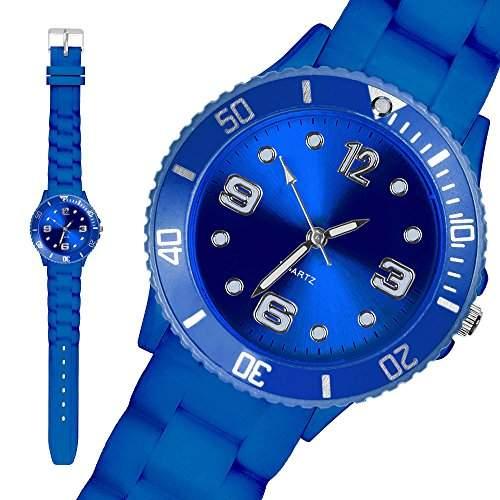 Taffstyle® Bunte Silikon Uhr Armbanduhr Sportuhr Wasserdicht Kinderuhr Little Blau 34mm