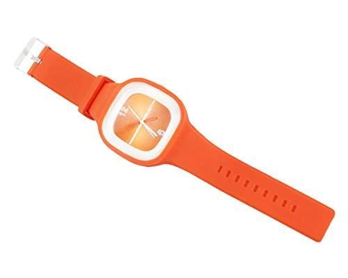 niceeshopTM Modern Gelee Unisex Silikon Armbanduhr-Orange