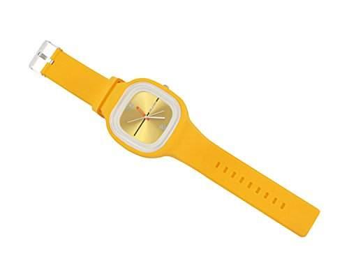 niceeshopTM Modern Gelee Unisex Silikon Armbanduhr-Gelb