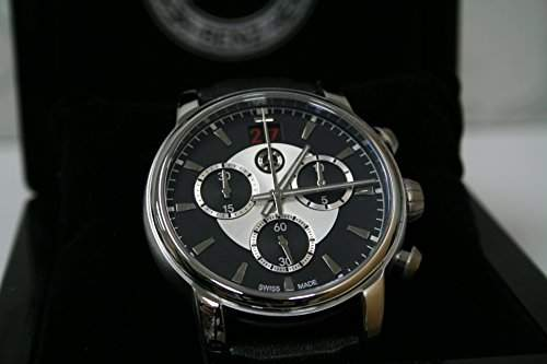 Mercedes-Benz Armbanduhr, UHR Chronograph, Herren, High Class schwarz  silber, Edelstahl  Kalbsleder