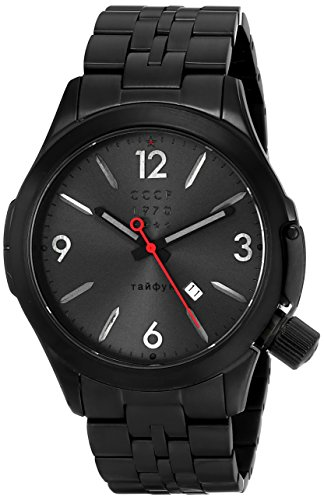 CCCP Herren cp 7010 44 shchuka Analog Display Swiss Quartz Black Watch
