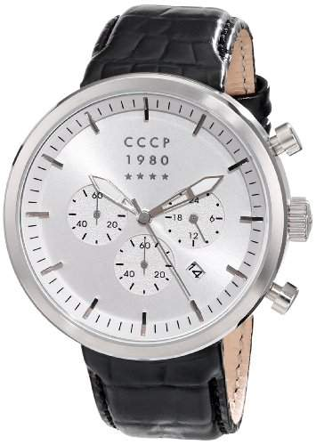CCCP Herren CP-7007-01 Kashalot Analog Display Japanese Quartz Black Armbanduhr
