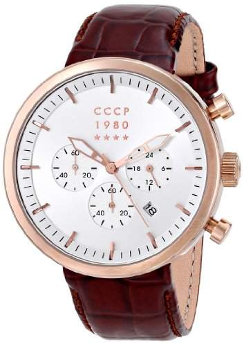 CCCP Herren CP-7007-04 Kashalot Analog Display Japanese Quartz Brown Armbanduhr