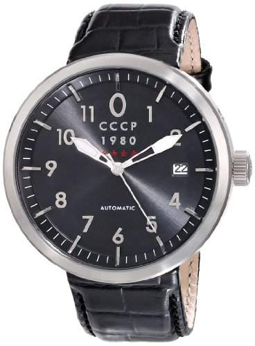 CCCP Herren CP-7008-01 Kashalot Analog Display Automatic Self Wind Black Armbanduhr
