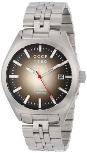 CCCP Mens CP-7012-11 Shchuka Analog Display Automatic Self Wind Silver Watch