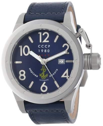 CCCP Herren CP-7017-04 Delta Analog Display Japanese Quartz Blue Armbanduhr