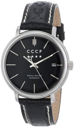CCCP Herren CP-7019-01 Heritage Analog Display Automatic Self Wind Black Armbanduhr