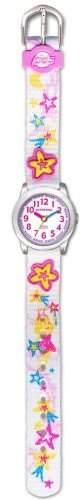 JACQUES FAREL HCC3133 Elfensternchen Uhr Maedchen Kinderuhr Textilband Edelstahl 30m Analog mehrfarbig
