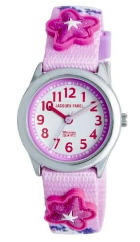 JACQUES FAREL HCC3134 Einhorn Uhr Maedchen Kinderuhr Textil Edelstahl 30m Analog mehrfarbig bunt