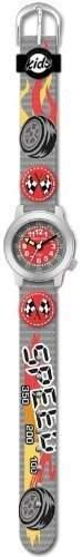 JACQUES FAREL HCW4121 Speed Uhr Junge Kinderuhr Textil Edelstahl 30m Analog mehrfarbig