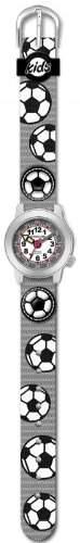 JACQUES FAREL HCW4122 Fussball Uhr Junge Kinderuhr Textil Edelstahl 30m Analog mehrfarbig