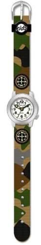 JACQUES FAREL HCW4125 Scout Uhr Junge Kinderuhr Textil Edelstahl 30m Analog mehrfarbig bunt