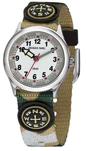Jacques Farel Camouflage Kompass Kinderuhr HCC4125