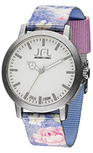 Jacques Farel Flower Jugenduhr mehrfarbig grau CRS017