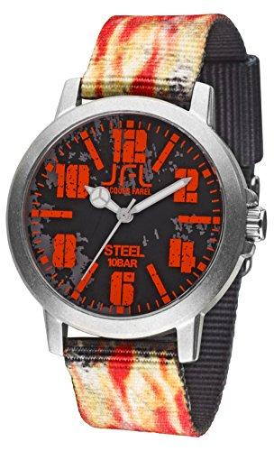 Jacques Farel Flame Jugenduhr rot grau schwarz CRS003