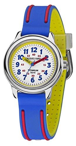 Jacques Farel Kinderuhr blau rot gelb silber weiss KTI5555