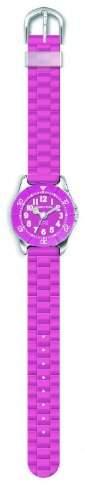 JACQUES FAREL KWD0101 Trend Style pink Uhr Maedchen Kinderuhr Kunststoff Edelstahl 30m Analog rosa