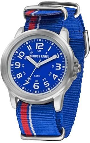 Jacques Farel Jugenduhr blau-rotsilber SBR333