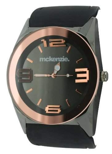 Mckenzie Herren-Armbanduhr Analog silikon schwarz MCK17A