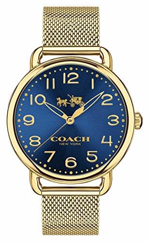 Coach Damen Delancey Gold PVD vergoldet blau Zifferblatt 14502665