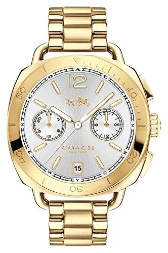 Coach Damen Tatum Gold PVD vergoldet Silber Zifferblatt 14502603
