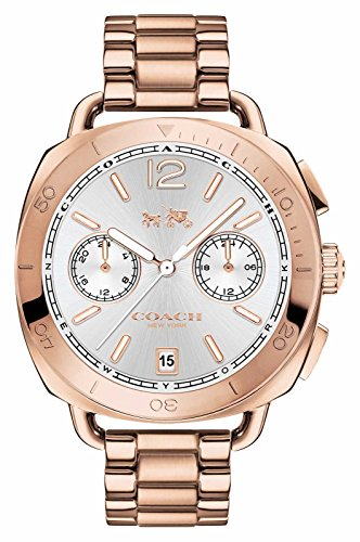Coach Damen Tatum Rose Gold PVD vergoldet Silber Zifferblatt 14502604