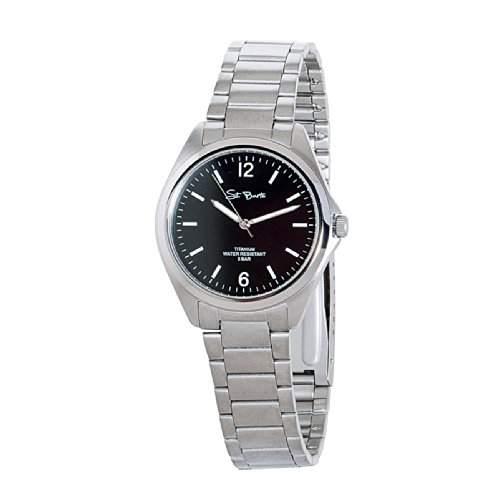 St Barth Herren-Armbanduhr Titanium Analog Quarz Titanband SilberSchwarz SGT-50185-22M
