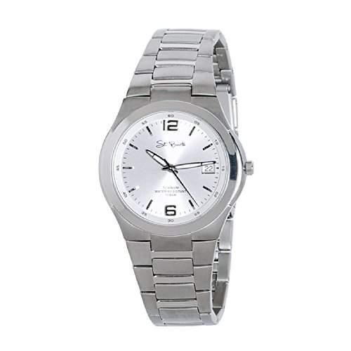 St Barth Herren-Armbanduhr Titanium Analog Quarz Titanband Silber SGT-50187-41M