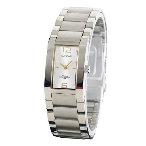 St Barth Damen-Armbanduhr Titanium Analog Quarz Titanband SilberGold SLT-50197-42M