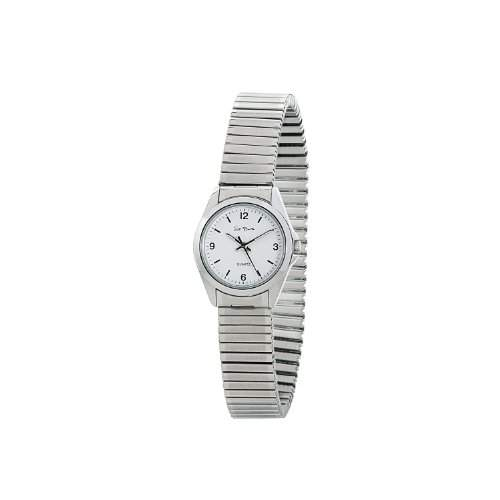 St Barth Damen-Armbanduhr Sport Basic Analog Quarz Edelstahlzugband SilberWeiss SLS-31055-12M