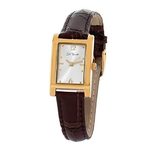 St Barth Damen-Armbanduhr Sport Basic Analog Quarz LederbandPU BraunGold SLA-32321-41L