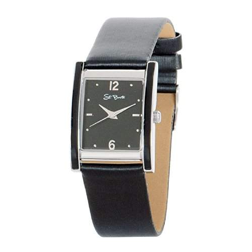 St Barth Damen-Armbanduhr Trendy Analog Quarz Kunststoffband Schwarz SLA-90591-21L