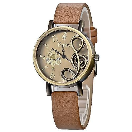 Klassiker Creative Design Brown Leather Partitur Skala Frauen Maedchen beobachten