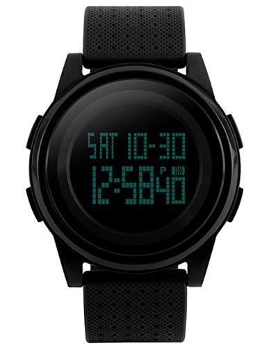 Mudder Herrensportuhr Militaerische LED Digitale Tauchen Wasserdichte Uhr Schwarz