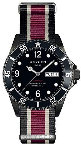 OXYGEN-D-MBB - 40-EX-NN-BLIVPL-Armbanduhr-Quarz-Analog Nylon, mehrfarbig