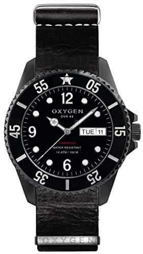 OXYGEN EX-D-MBB - 44-NL-BL-Armbanduhr, Leder, Farbe: schwarz