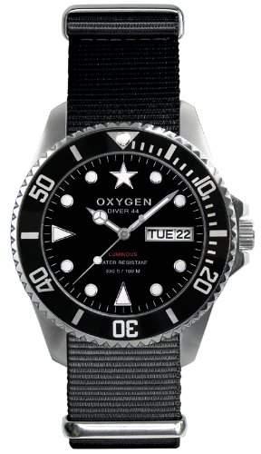 Oxygen Unisex-Armbanduhr Moby Dick 44 Analog Quarz Nylon EX-D-MOB-44-NN-BL