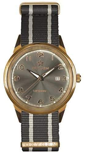 OXYGEN unisex-Armbanduhr Panama 40 Analog Quarz Nylon EX-SV-PAN-40-NN-GRIVGR
