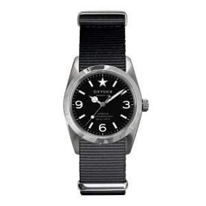 Oxygen-ex-s-was-34-bl-Sport Damen-Armbanduhr-Quarz Analog-Zifferblatt schwarz Armband Nylon schwarz