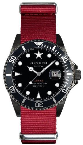 Oxygen Unisex Armbanduhr Moby Dick Black 40 Analog Quarz Nylon EX D MBB 40 RE