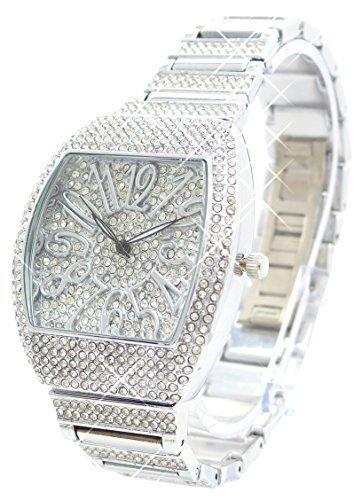 Armbanduhr mit Edelsteinen besetzt hochwertige Italy Designer Watch H85 8x