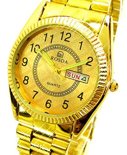 Armbanduhr Gold Markenuhr Klassische Herrenuhr mit Datum Gold Designer Uhr Gold Watch U83x3