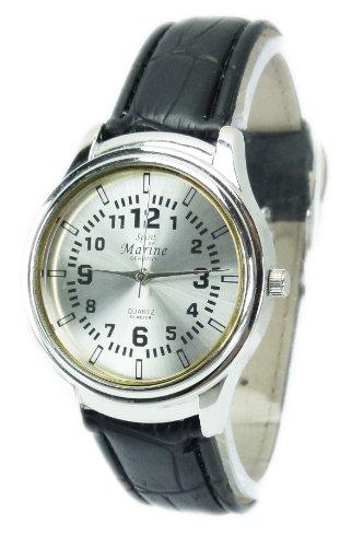 Armbanduhr Gold Stilvolle schlichte Uhren klassischer Zeitmesser mit Lederarmband Kroko in Schwarz Q41