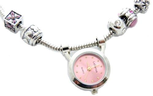 Beadsarmband Uhr oder Beadskette mit Beaduhr ROSA