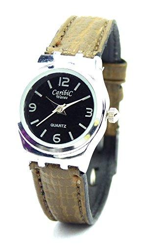 Damenuhr elegante Armbanduhr schlichte Mini Uhr klassische Designer Uhr mit Lederarmband Ox6