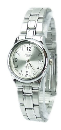 Designer Uhr Metall Armband Uhr edle Armbanduhr in Silber WOW