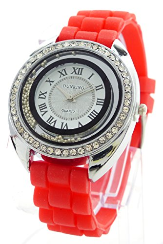 Strass Glamour Designer Lady Watch Armbanduhr Lady Watch Dunking RED