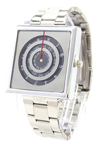 Designer Armbanduhr Rotolog Time DG Trendit Silver Black U50 3