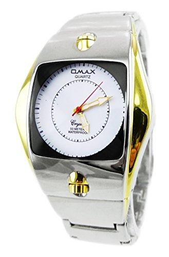 Designer Markenuhr hochwertige Metallarmband Designer Uhr OMAX CRYSTAL WHITE GOLD U81x5